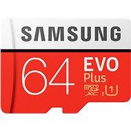 Samsung MicroSDXC 64 GB EVO Plus + SD adaptér - Pamäťová karta