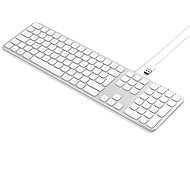 Satechi Aluminum Wired Keyboard for Mac – Silver – US