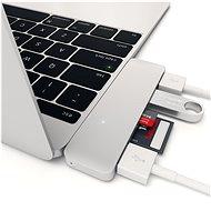 Satechi Aluminium Type-C USB COMBO Hub (3× USB 3.0, MicroSD) – Silver