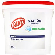 SAVO Do bazénu Chlor Šok dezinfekcia 5 kg - Bazénová chémia