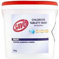 SAVO Do bazénu Maxi tablety chlórové 5 kg - Bazénová chémia
