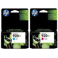 HP CD972AE+ CD973AE č. 920XL azúrová + purpurová