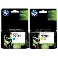 HP CD972AE + CD974AE č. 920XL azúrová + žltá