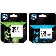HP HP CH563EE + CH562EE č. 301 čierna XL a farebná - Cartridge