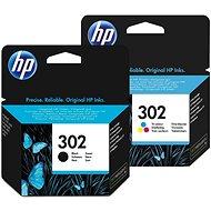 HP č. 302 čierna + farebná
