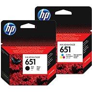 HP č. 651 čierna + farebná