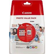 Canon CLI-581 XL Multipack + fotopapier PP-201 - Sada