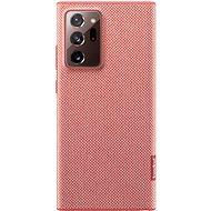 Puzdro na mobil Samsung Ekologický zadný kryt z recyklovaného materiálu pre Galaxy Note20 Ultra 5G červený - Pouzdro na mobil