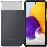 Samsung flipové puzdro S View pre Galaxy A72 čierne - Puzdro na mobil