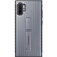 Samsung Tvrdený ochranný zadný kryt so stojanom na Galaxy Note10+ strieborný