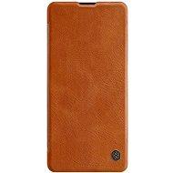 Puzdro na mobil Nillkin Qin pre Samsung Galaxy Note 10 Lite Brown - Pouzdro na mobil