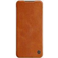 Puzdro na mobil Nillkin Qin kožené puzdro pre Xiaomi Redmi Note 9 Pro/Note 9S Brown - Pouzdro na mobil