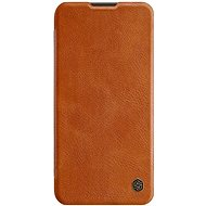 Puzdro na mobil Nillkin Qin kožené puzdro pre Huawei P40 Lite Brown - Pouzdro na mobil