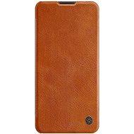 Puzdro na mobil Nillkin Qin pre Samsung Galaxy A21s Brown - Pouzdro na mobil
