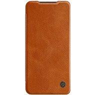 Puzdro na mobil Nillkin Qin kožené puzdro pre Xiaomi Redmi Note 9 Brown - Pouzdro na mobil