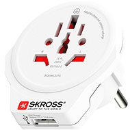 SKROSS  WORLD TO EUROPE USB PA30USB - Cestovný adaptér