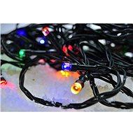 LED vonkajšia vianočná reťaz, 50 LED, 5 m, prívod 3 m, 8 funkcií, časovač, IP44, viacfarebná - Vianočná reťaz