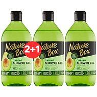 NATURE BOX Shower Gel Avocado Oil 385 ml 2 + 1 - Sprchový gél