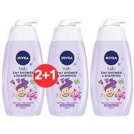 NIVEA Kids 2 in 1 Shower & Shampoo Girl 500 ml 2 + 1