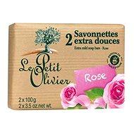 LE PETIT OLIVIER Extra Mild Soap Bars - Rose 2× 100 g - Tuhé mydlo