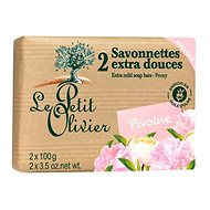 LE PETIT OLIVIER Extra Mild Soap Bars – Peony 2× 100 g - Tuhé mydlo