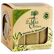 LE PETIT OLIVIER Olive Oil Marseille Soaps 3× 100 g - Tuhé mydlo