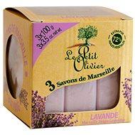 LE PETIT OLIVIER Marseille Soaps Lavender 3× 100 g - Tuhé mydlo