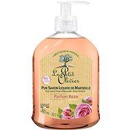 LE PETIT OLIVIER Pure Liquid Soap of Marseille – Rose Perfume 300 ml - Tekuté mydlo
