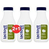 LACTOVIT Men Active revitalizujúci 3 v 1 sprchový gél 300 ml 2+1