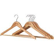 Vešiak Siguro Essentials drevený, natural, 5 ks