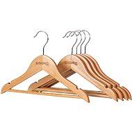 Vešiak Siguro Kids Essentials drevený, natural, 5 ks
