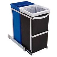 Simplehuman Built-in waste bin 20/15l, glossy steel, plastic bucket - Waste Bin