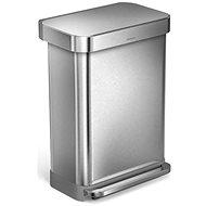Simplehuman Pedálový koš 55 l, matná ocel, FPP, dávkovač na vrecká - Odpadkový kôš