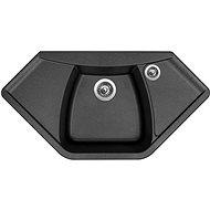 Sinks NAIKY 980 Metalblack - Granitový drez