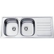 Sinks OKIO 1200 DUO V 0,7 mm matný - Nerezový drez