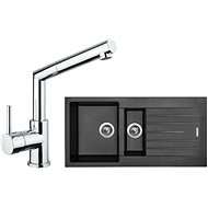 SINKS PERFECTO 1000.1 Metalblack + MIX 350 P lesklá - Set