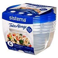 Sistema 760 ml Small Bowl 4 Pack TakeAlongs