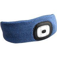 SIXTOL 45 lm,  nabíjacia, USB, univerzálna veľkosť, modrá - Čelenka