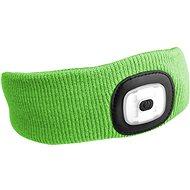SIXTOL 45 lm,  nabíjacia, USB, univerzálna veľkosť, fluorescenčná zelená - Čelenka