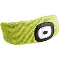 SIXTOL 45 lm,  nabíjacia, USB, univerzálna veľkosť, fluorescenčná žltá - Čelenka