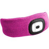 SIXTOL 45 lm,  nabíjacia, USB, univerzálna veľkosť, ružová - Čelenka
