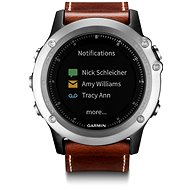 Garmin Fenix 3 Sapphire Silver Leather Performer Bundle - Smart hodinky