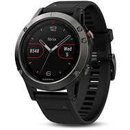 Garmin Fenix 5 Gray Optic Black band - Smart hodinky