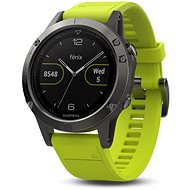 Garmin Fenix 5 Grey Optic Yellow band - Smart hodinky