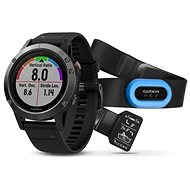 Garmin Fenix 5 Grey Optic Black band, Performer Bundle - Smart hodinky