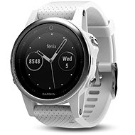 Garmin Fenix 5S Silver Optic White band - Smart hodinky