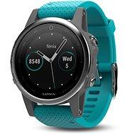 Garmin Fenix 5S Silver Optic Turquoise band - Smart hodinky