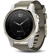 Garmin Fenix 5S Sapphire, Goldtone, white band - Smart hodinky