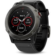 Garmin Fenix 5X Sapphire, Grey, Black band - Smart hodinky