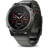 Garmin Fenix 5X Sapphire, Grey, Metal band - Smart hodinky